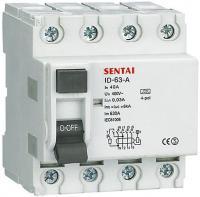 Chránič ID OLL7-63 400V/40A-30mA 3fázový na DIN lištu
