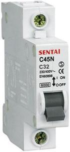 Jistič DZ47 230V/32A/C 1fázový na DIN lištu